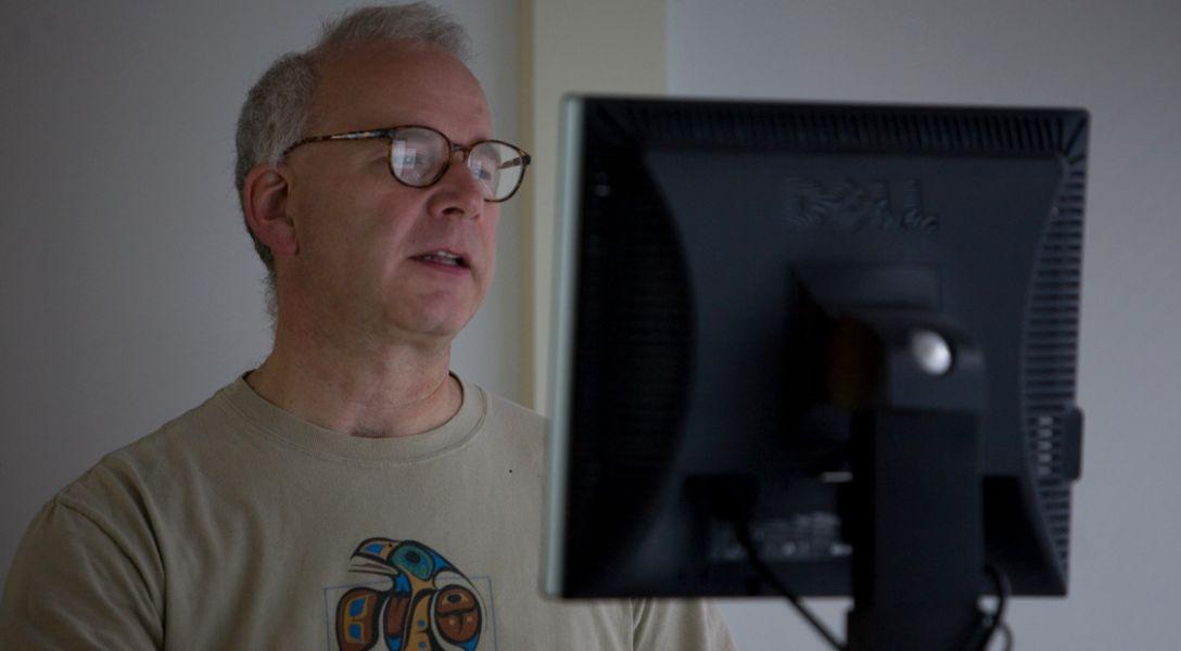 John Bunge at computer