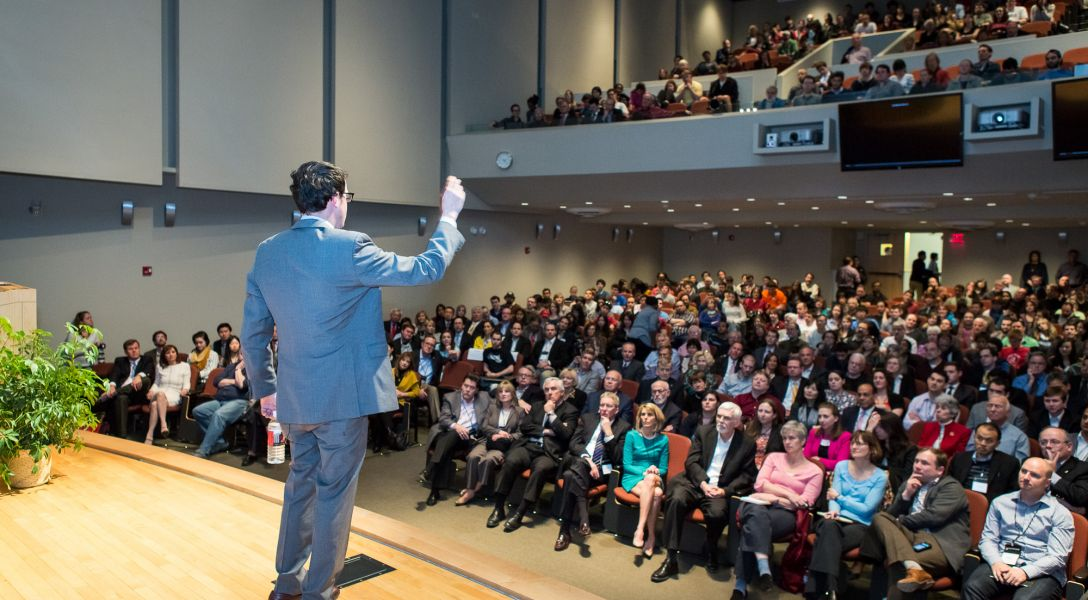 The crowd at Nate Silver's 2013 talk.