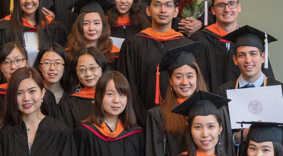 Cornell Statistics graduates at the 2018 Commencement ceremony.