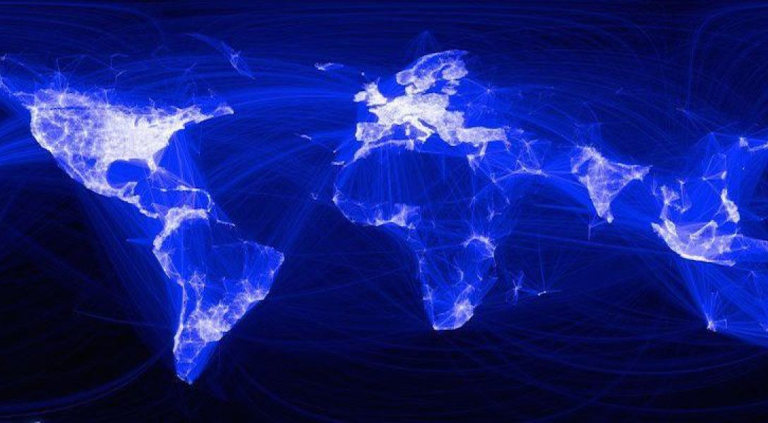 Stock image of the world networks