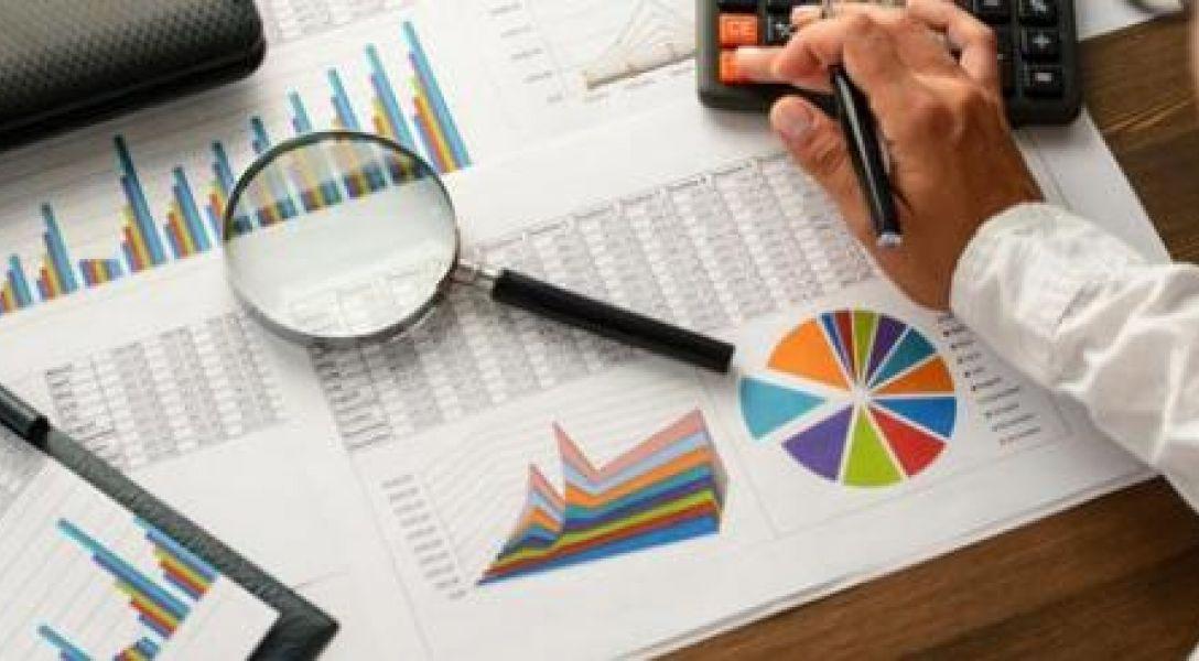 Stock photo of statistics work