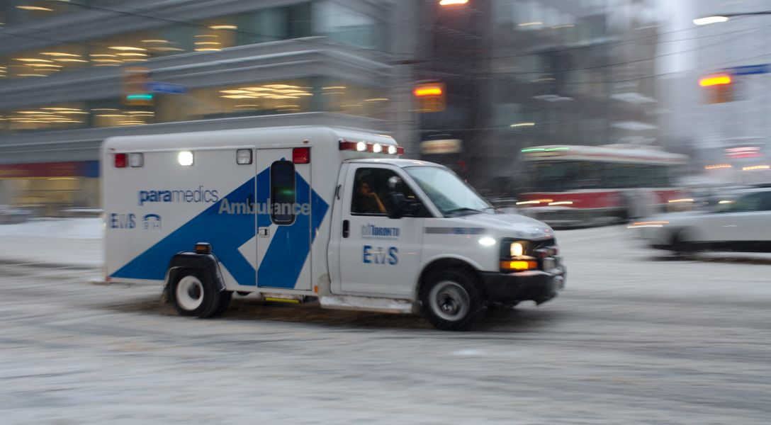 Stock pic of ambulance