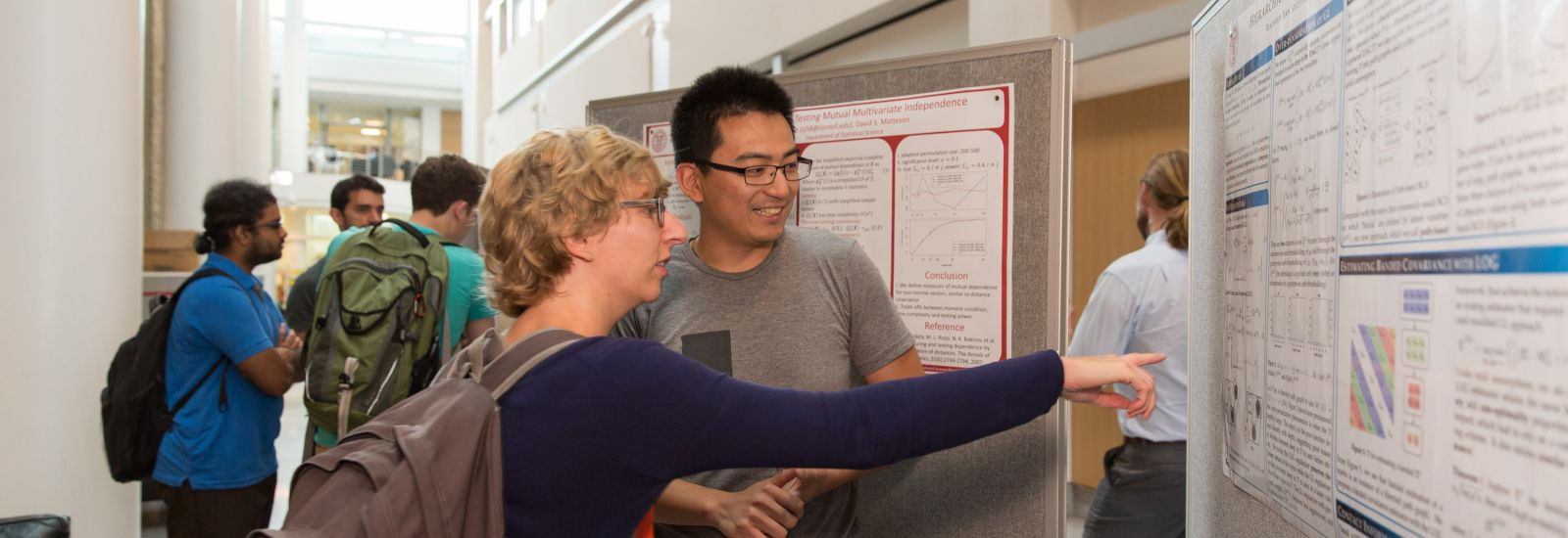 Student poster presentations at the Day of Statistics