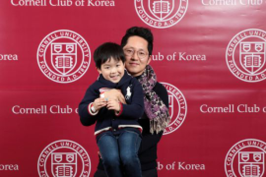 Jin Wook Kim and son at a Cornell Club of Korea meeting