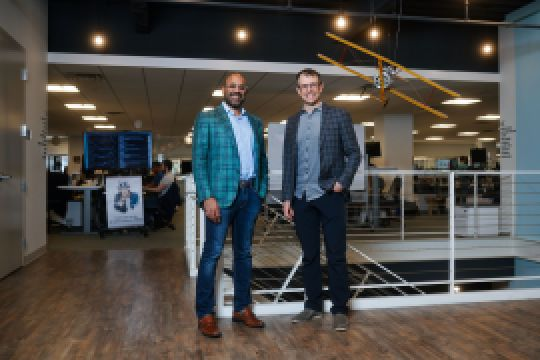 Niraj Shah and Steve Conine, cofounders of Wayfair