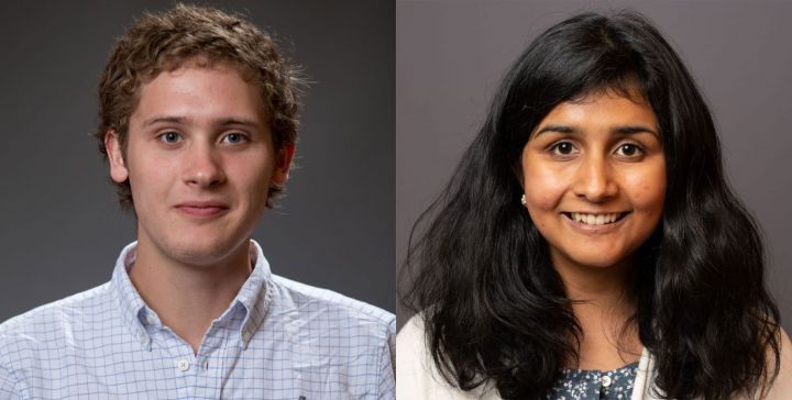 Ben Baer and Sara Venkatraman, two doctoral students in Cornell Statistics and Data Science